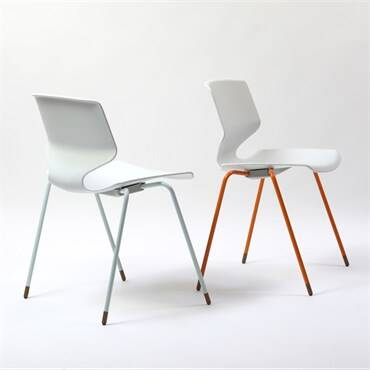 FJ 64 Chair White Orange Light Blue(1)