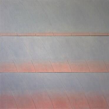 Signe Stuart-WAVE SCORE-acrylic on sewn canvas-60ins by 80ins-$22000.