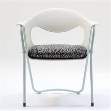 The Modern Art Chair White Light Blue
